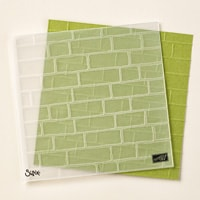 Brick Wall Textured Impressions Embossing Folder