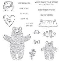 Bear Hugs Wood-Mount Stamp Set