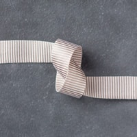 "Tip Top Taupe 5/8"" (1.6 Cm) Mini Striped Ribbon"
