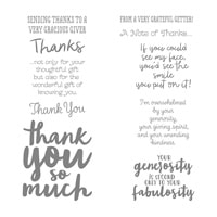 Thankful Thoughts Wood-Mount Stamp Set