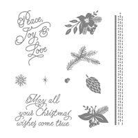 Peace This Christmas Clear-Mount Stamp Set