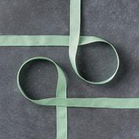 "Mint Macaron 3/8"" (1 Cm) Sheer Linen Ribbon"