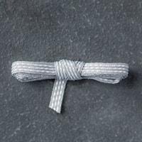 "Smoky Slate 1/8"" (3.2 Mm) Stitched Ribbon"