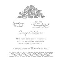 Floral Phrases Clear-Mount Stamp Set