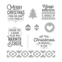 Wrapped In Warmth Clear-Mount Stamp Set