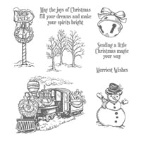 Christmas Magic Clear-Mount Stamp Set