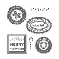 Holly Jolly Layers Wood-Mount Stamp Set
