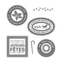 Des Tonnes De Joie Clear-Mount Stamp Set (French)