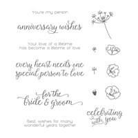Falling For You Wood-Mount Stamp Set