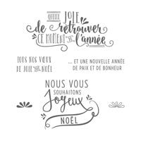 Joyeuse Année Clear-Mount Stamp Set (French)